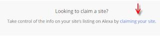 cara claim blog di alexa.com