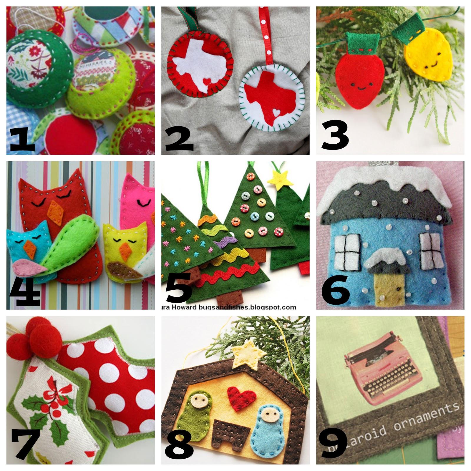 christmas ideas felt ornament round up