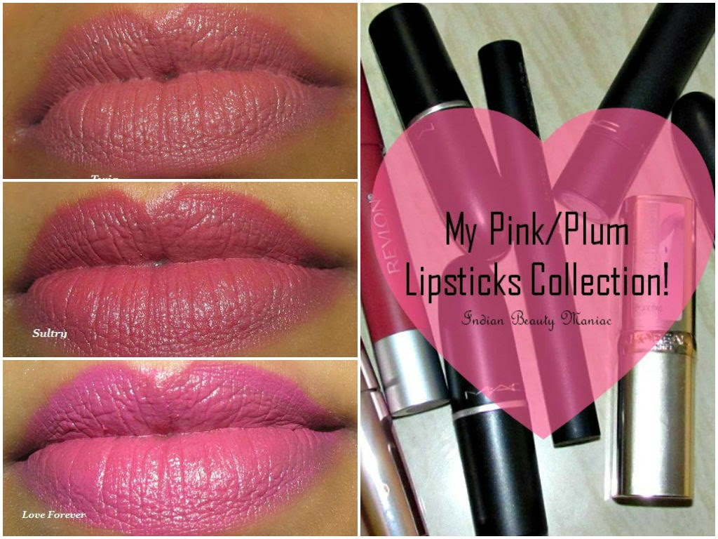 Pink and plum lipsticks for Indian Skin tone