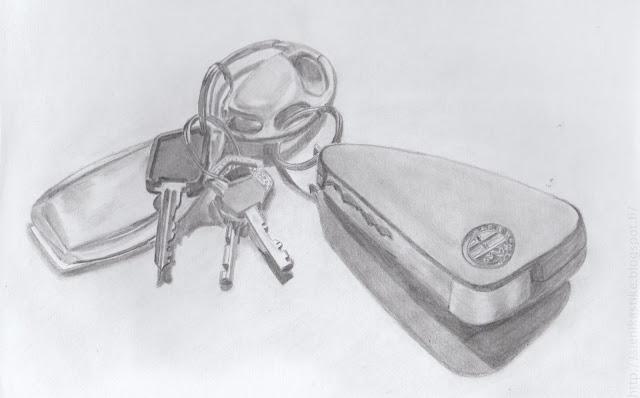 рисунок ключей простым карандашом