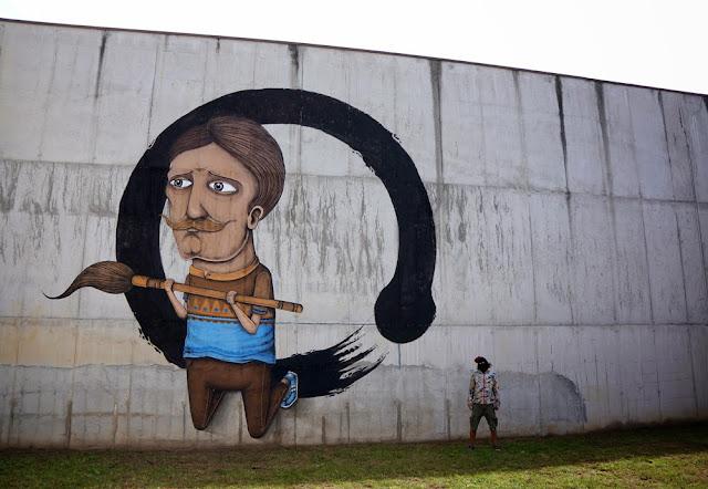 Street Art By Italian Urban Artist SeaCreative Inside an Ex-Prison in Tirano, Italy. 1