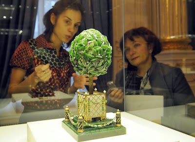 History, Faberge-Museum, St. Petersburg, Egg, Jewellery, Lily of the valley, Peter Carl Faberge, Creation, Easter, Offbeat, Laurel tree, Peter Carl Faberge, Billionaire, Viktor Vekselberg, Russia,
