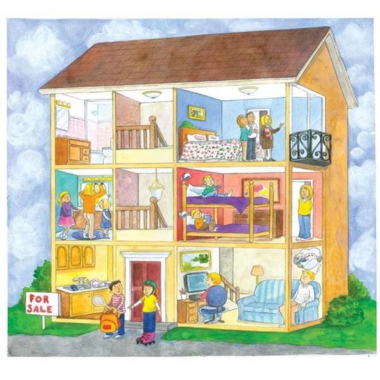 Le fran ais et moi les parties de la maison - La maison des doudous ...