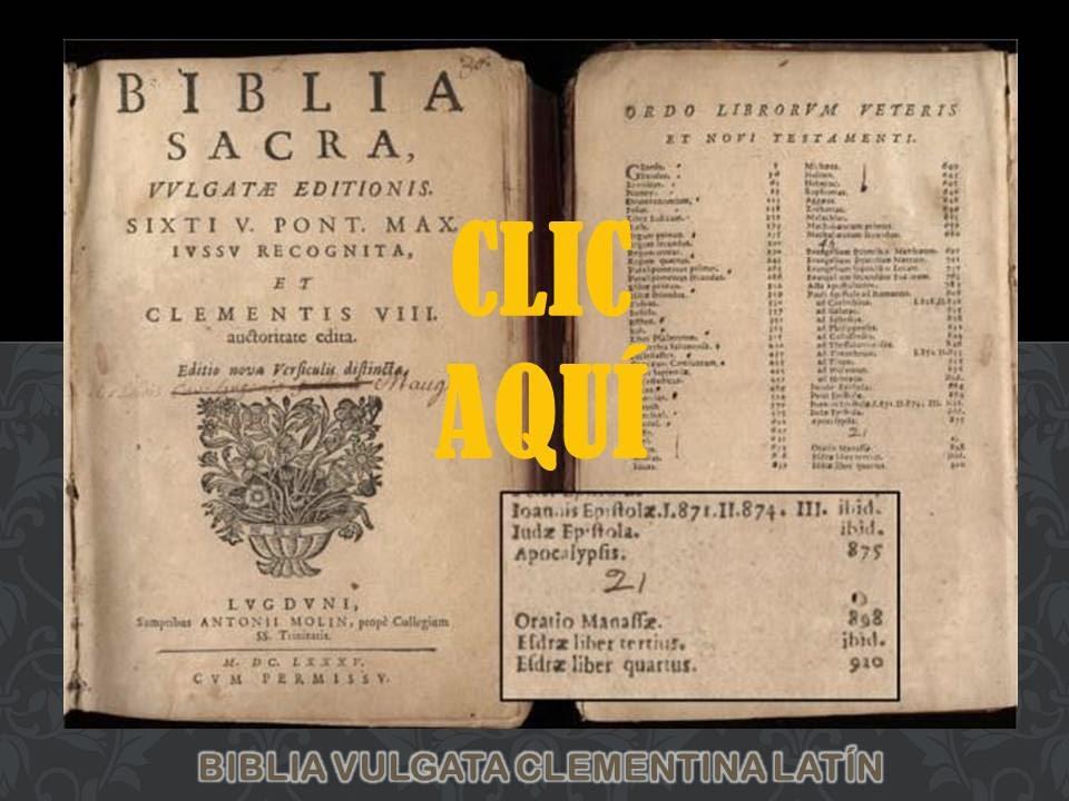 BIBLIA VULGATA - CLEMENTINA SOLO EN LATÍN