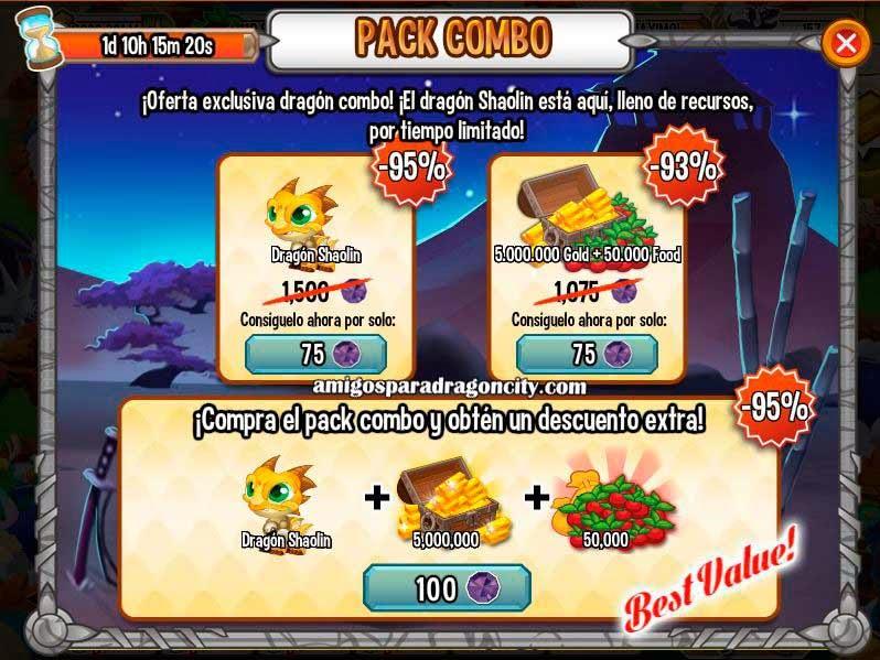 imagen de la oferta especial del dragon shaolin de dragon city