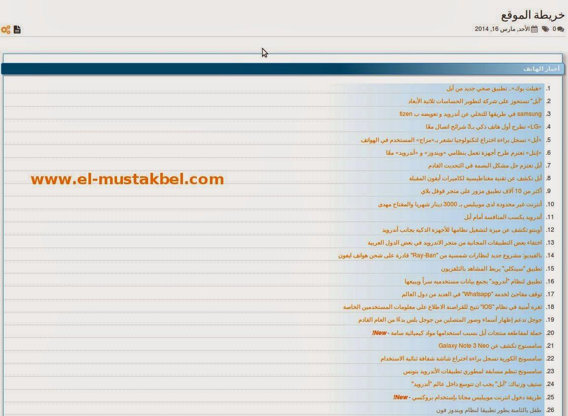 إضافة صفحة خريطة الموقع لمدونات بلوجر  مثل المنتديات