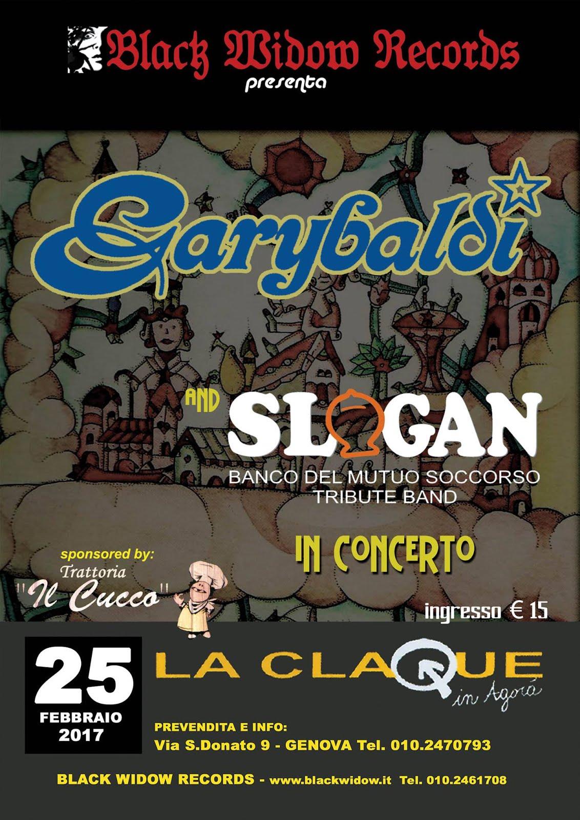 GARYBALDI + SLOGAN LIVE