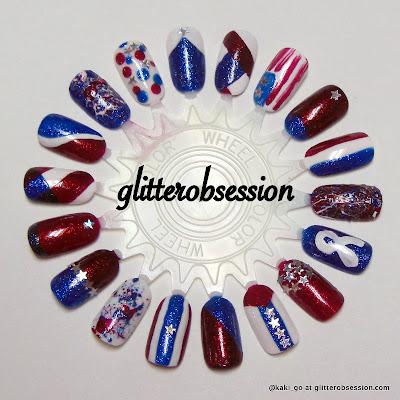 Patriotic/4th of July Nail Art Wheel