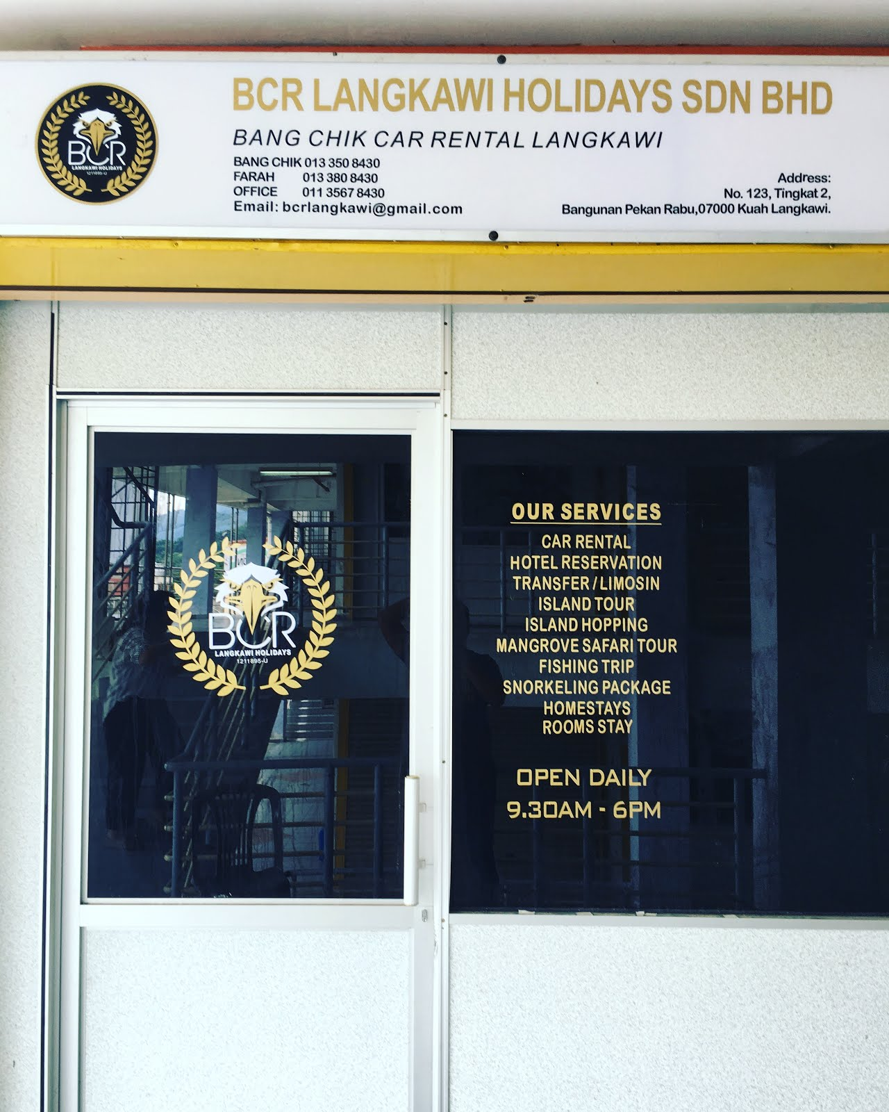 OFFICE : BCR LANGKAWI HOLIDAYS