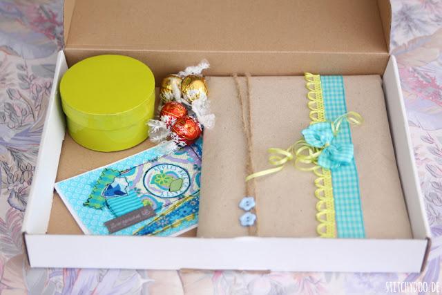 stitchydoo: Sommerwichteln 2015 | Großes Auspackfinale -  Das geöffnete Päckchen