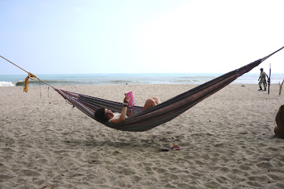amaca en la playa, amaca a la platja