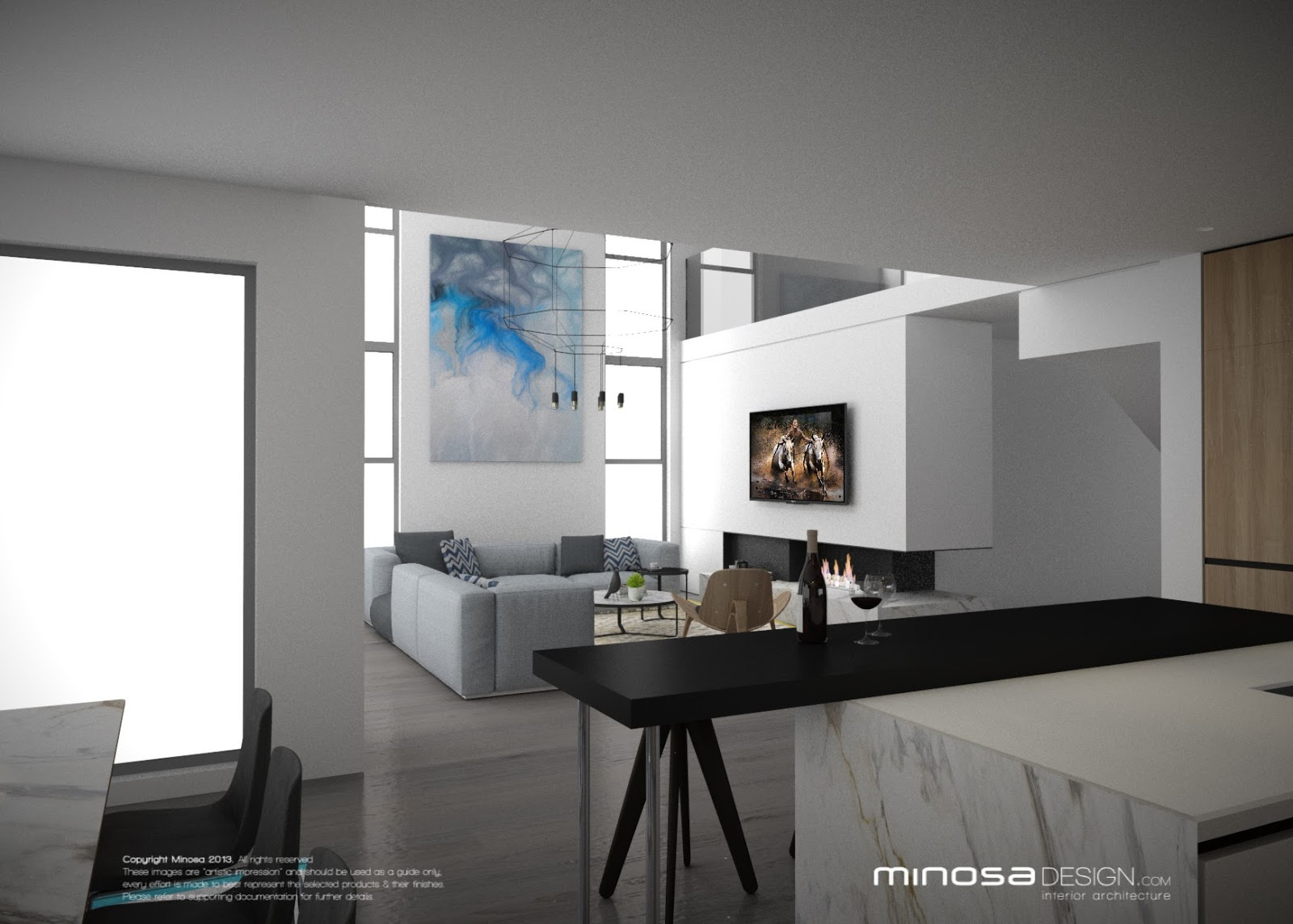 Living Room And Kitchen Design Minosa Design The Modern Living Room Kitchen Lounge Dine