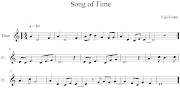 Song of Time. Esta pieza es clave tanto en Ocarina of Time como en Majora´s .