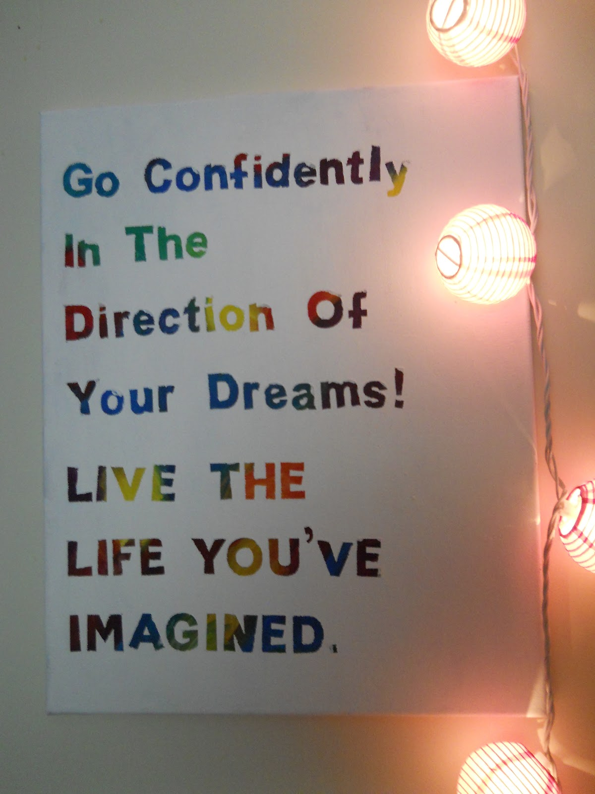 Life Canvas Quote I Told You Sew Painted Canvas Quote Poster A Tutorial