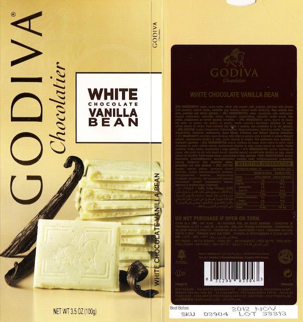 tablette de chocolat blanc dégustation godiva blanc gousse de vanille