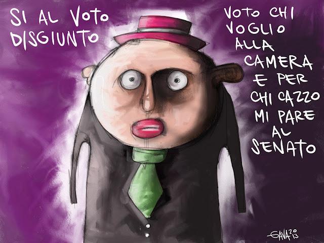 vignetta satira gava gavavenezia caricature ridere senato voto disgiunto camera cazzo mi pare