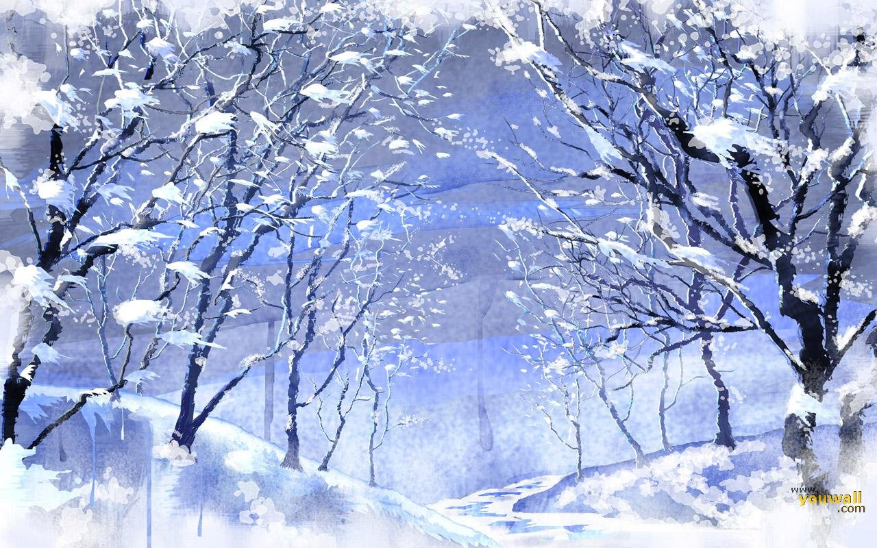 winter wallpaper with a - photo #15
