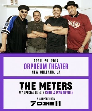 4/29 : 50th Anniversary of the Meters + Special Guests, and 7 Come 11