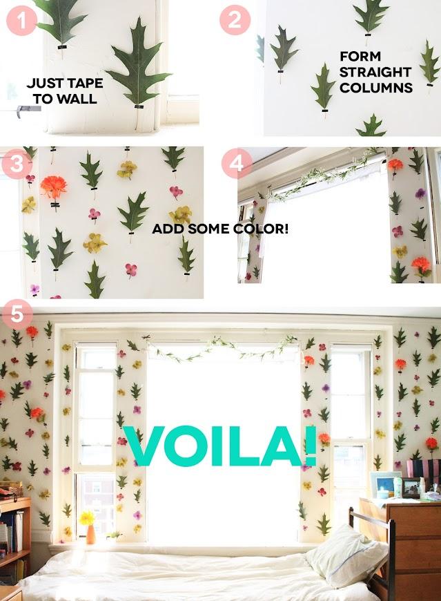 Decorating Ideas > I LIKE FALL DIY BLOG DIY DORM ROOM DECOR  FLORAL WALLPAPE ~ 214611_Dorm Room Diy Decor