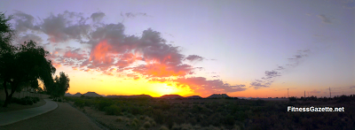 sunrise over the arizona desert