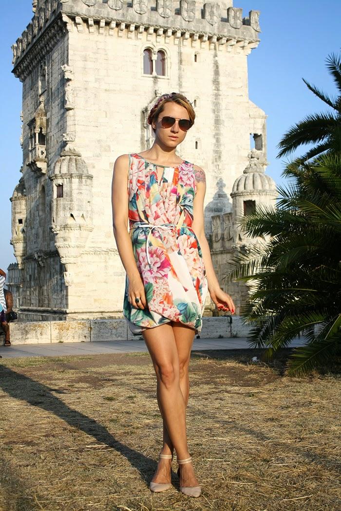 H&M floral dress milkmaid braids Asos flats