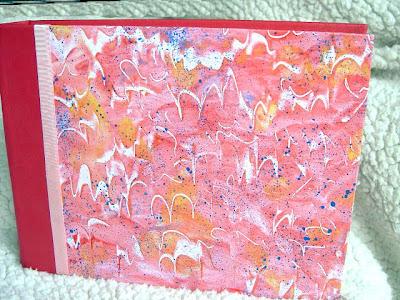 álbum de fotos, cartonage, papeles pintados a mano