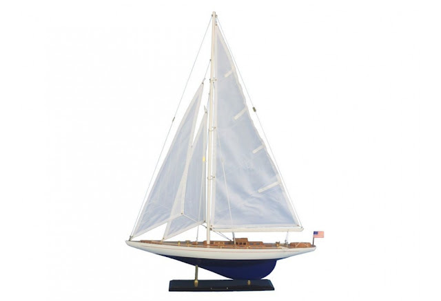 Enterprise Decorative Sailboat Model