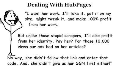 Why dealing with HubPages is worse than dealing with scrapers cartoon