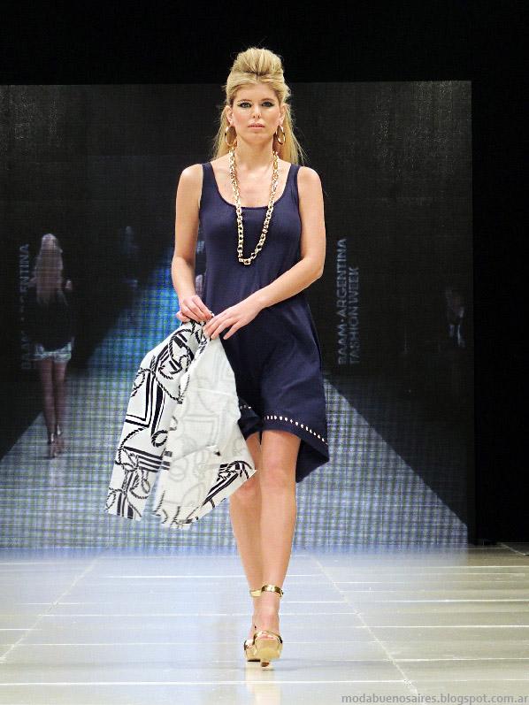 Moda 2014 Adriana Costantini verano 2014 vestidos.