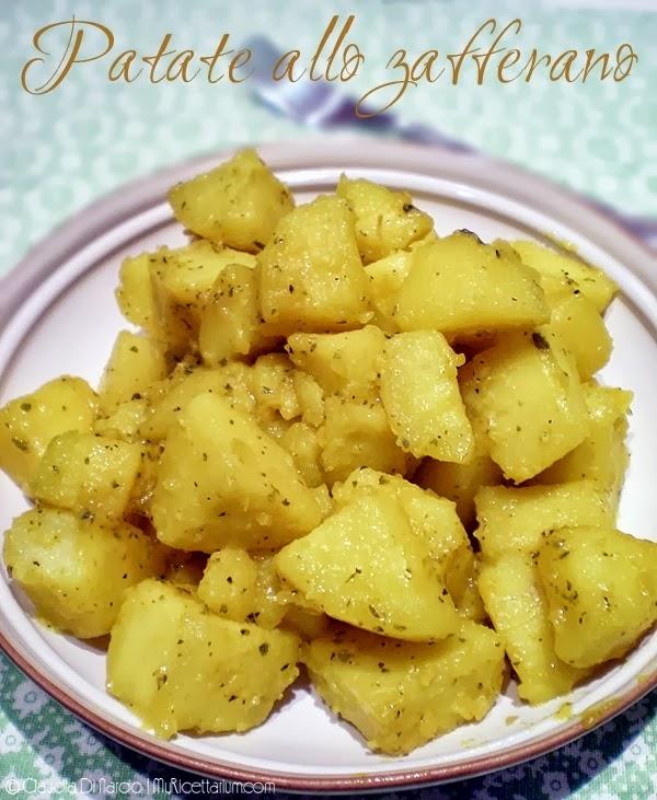 patate allo zafferano