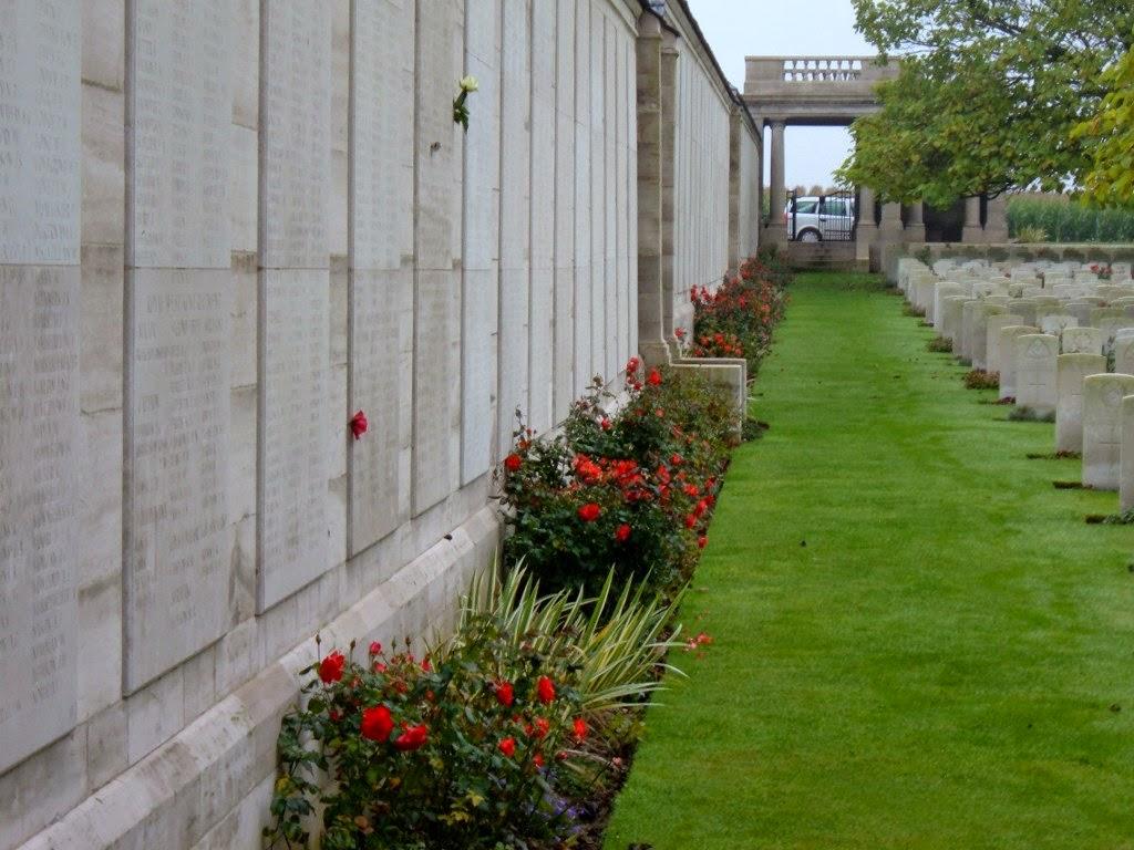 Last resting place of Herbert Harris Sampson  Loos Memorial (CWGC)