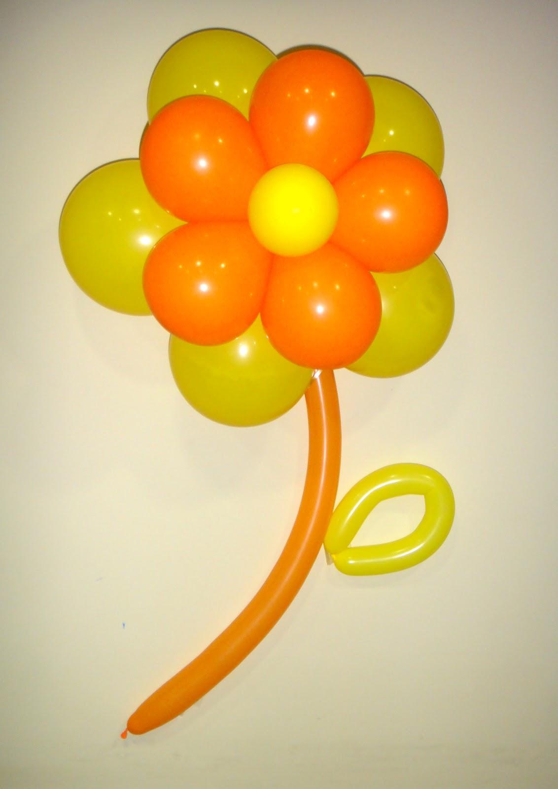 Eventos tips como hacer margaritas de globos para un - Como hacer decoracion con globos ...