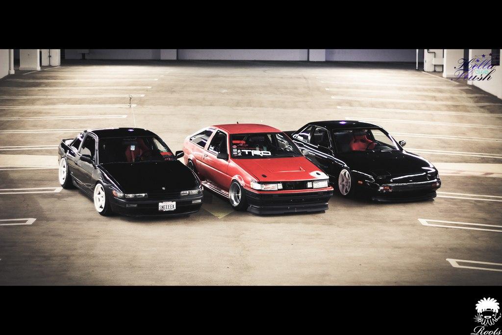 Nissan Silvia/240SX S13, Toyota Corolla Levin AE86, piękny design, ładne auta, prawdziwe sportowe samochody, driftowozy