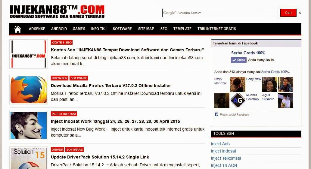 Tampilan Blog Injekan88.com