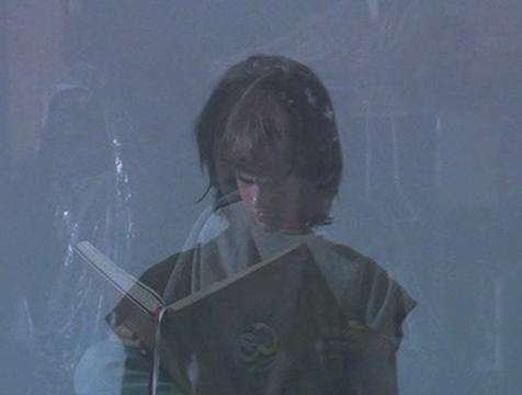 Atreyu (Noah Hathaway) ve a Bastián (Barret Oliver) en la Puerta del Espejo Mágico en La historia interminable - Cine de Escritor