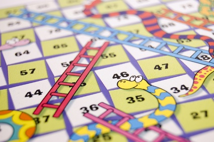Snakes-and-ladders-Ladders to Climb up and Climbdown -   Another game confusion