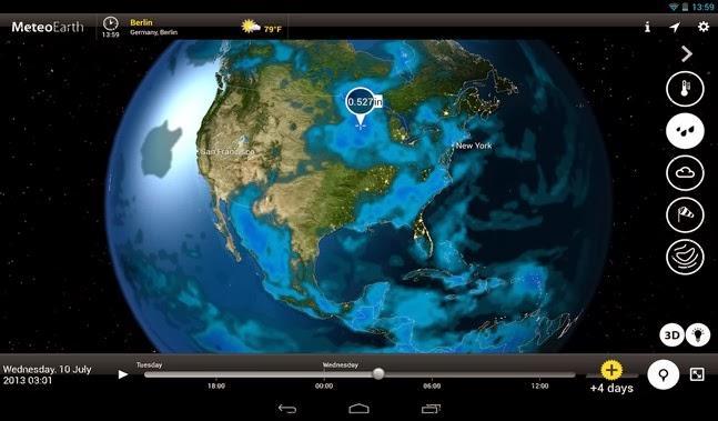 MeteoEarth android apk - Screenshoot
