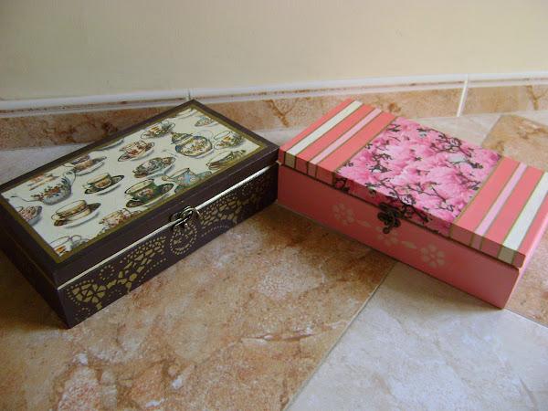 Cajas con decoupage aprender manualidades es - Manualidades cajas decoradas ...