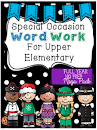 Word Work for Upper Elementary: Special Occasion