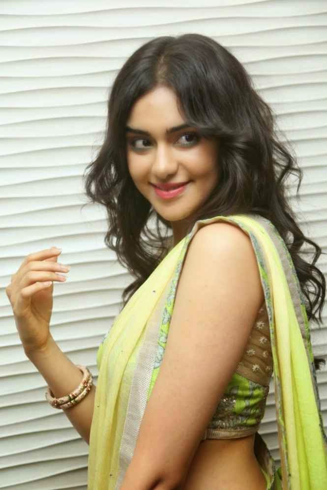 adah sharma hot backless navel pics in half saree
