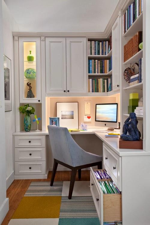 ruang kerja minimalis semi-privat