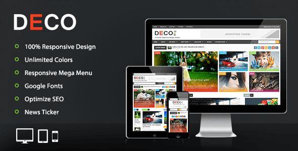 Deco Mag – Responsive Magazine Premium Blogger/Blogspot Template