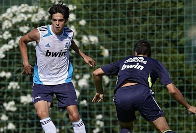 Kaka training with Real Madrid Castilla