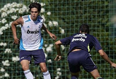 Kaka training with Real Madrid Castilla