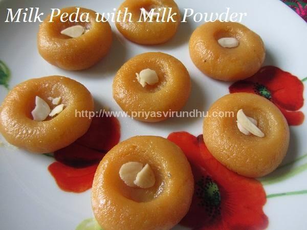 Milk Peda with Milk Powder & Condensed Milk