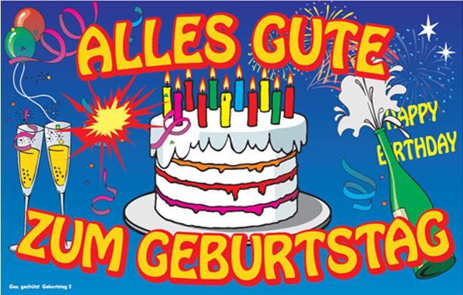 Поздравления на немецком на день рождения