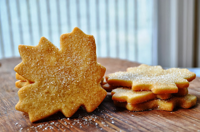 Leaf-shaped sugar maple cookies