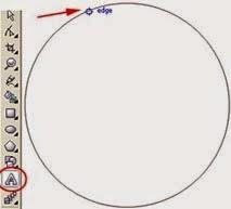membuat teks didalam lingkaran