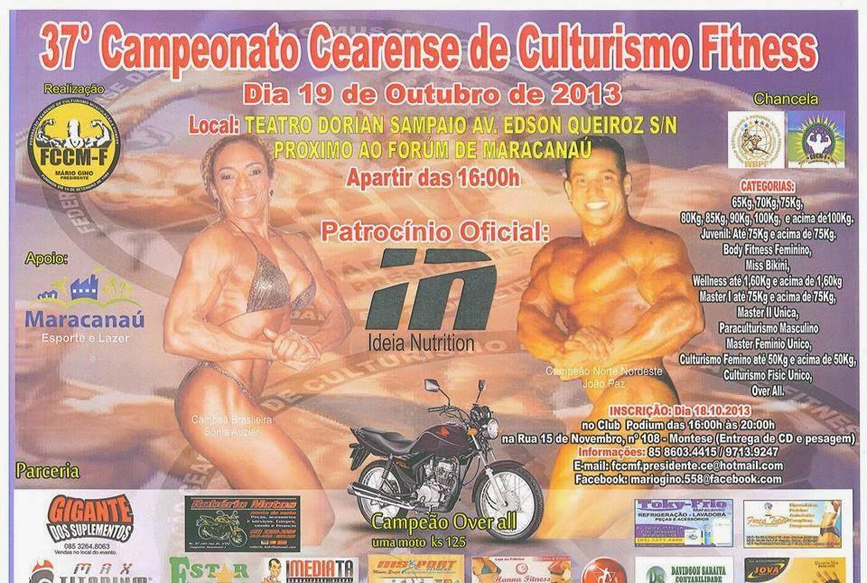 37o. Campeonato Cearense de Culturismo Fitness