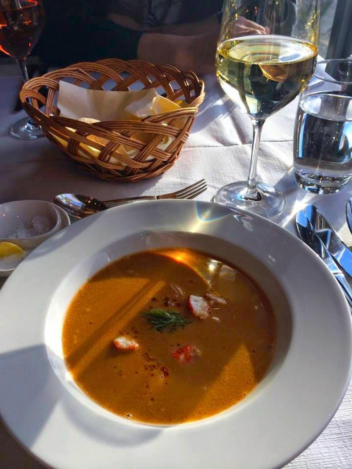 Starter crab soup with rootsin Nansen Radisson Polar Hotel Spitsbergen Longyearbyen Fine dining